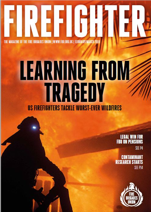 Feb March 2019 Firefighter magazine front cover