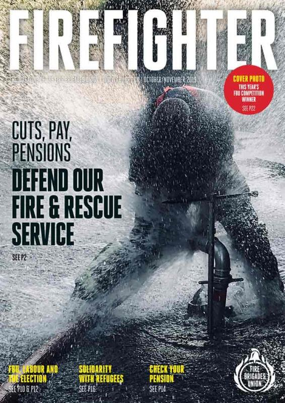 Oct Nov 2019 Firefighter magazine front cover
