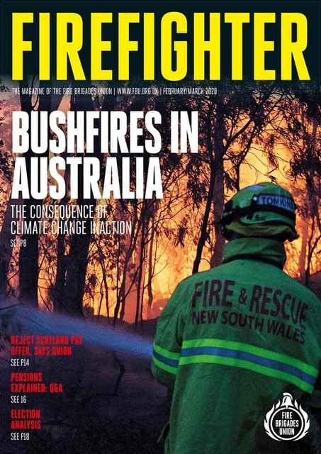 Feb March 2020 Firefighter magazine front cover