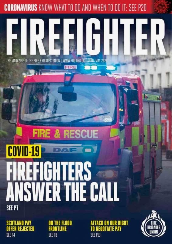April May 2020 Firefighter magazine front cover