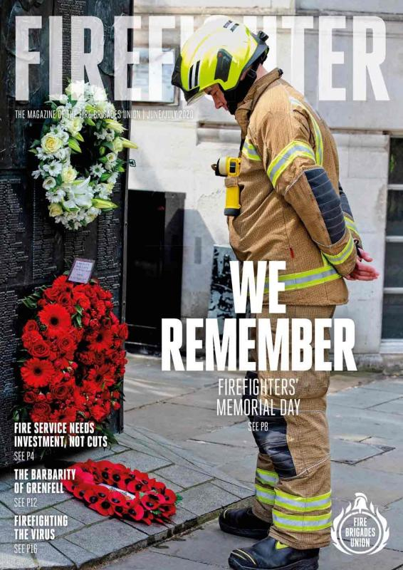 June July 2020 Firefighter front cover