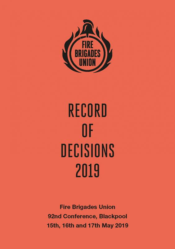 2019 Record of decisions from FBU conference