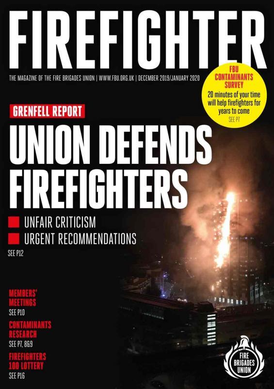 Dec 2019/Jan 2020 Firefighter magazine front cover